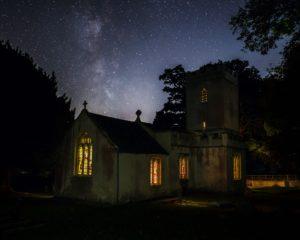 Angersleigh Church Milky Way Print Somerset UK