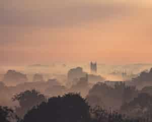 Taunton, Somerset in the Mist