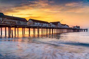 Sunrise at Southwold Pier Print UK