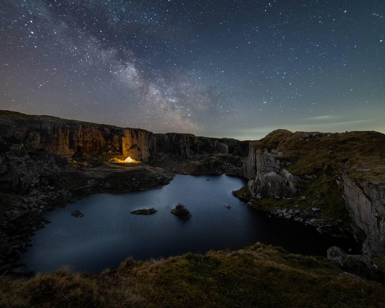 Dartmoor's Foggintor Milky Way Astrophotography Print