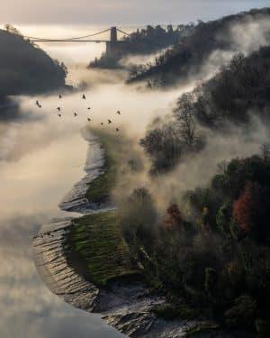 Misty Clifton Suspension Bridge Bristol Landscape Photography
