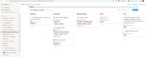 Screenshot of a custom photography scheduler using Notion